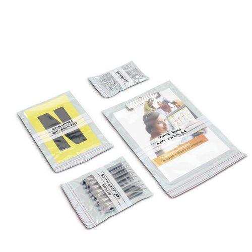 Minigrip® 60-micron plastic bag - With white stripes - Standard