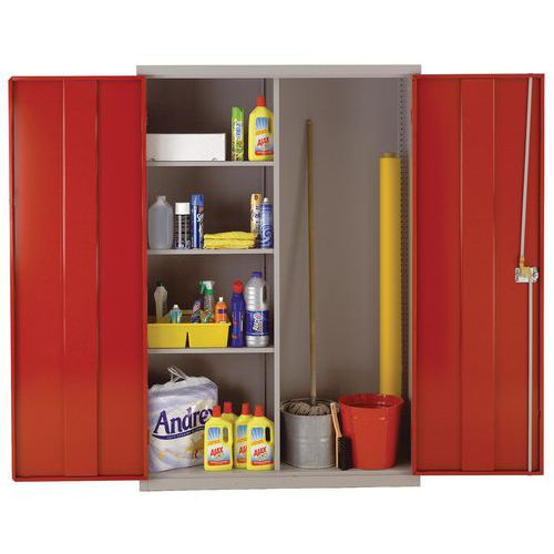 Large Metal Cleaning Cabinet with Antibacterial Coating