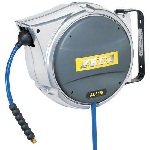 Zeca aluminium hose reel for compressed air and water - 10–16m