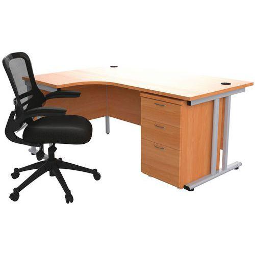 Oxford Office Bundle - Crescent Desk