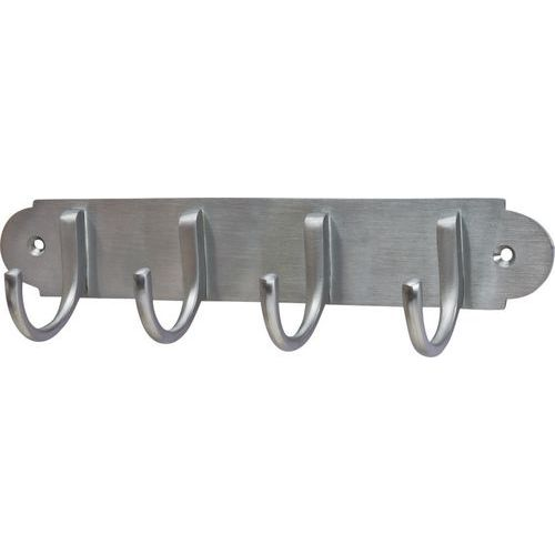 M Marcus Solid Brass Coat Rack - Satin Chrome