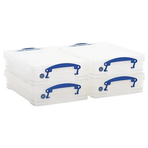 Pack of 4 x 4 Litre Really Useful Boxes - Dividers