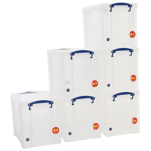 19 L Clear Really Useful Box Pack of 6