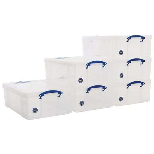 50 L Clear Really Useful Box Pack of 6