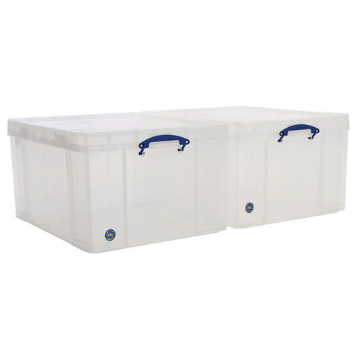 145 L Clear Really Useful Box Pack of 2