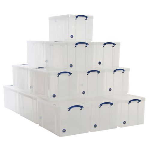 84L Really Useful Storage Plastic Boxes - Pallet Buy of 20 Units