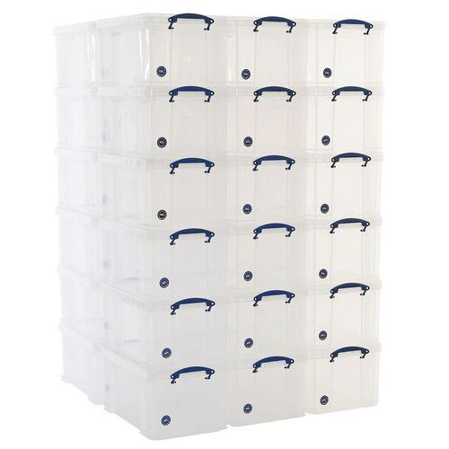 48 L Clear Really Useful Box Pallet Buy of 35
