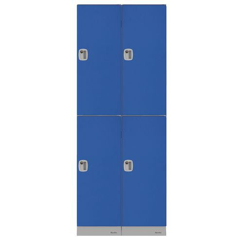 Multi-compartment plastic locker - Locker height 316 mm - To be assembled - Manutan