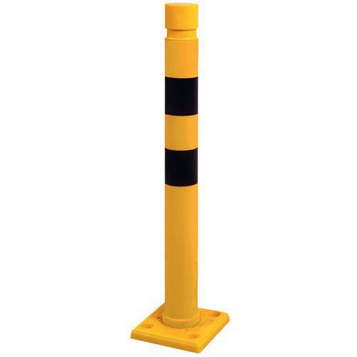 Black and yellow post - Ø 80mm - H 750mm