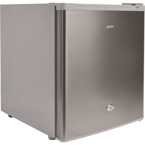 47 Litre Counter Top Fridge with Lock Stainless Steel Effect