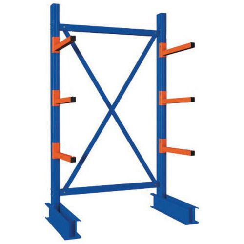 Heavy Duty Single Sided Cantilever Racking - 4000 x 1500 Starter Bay