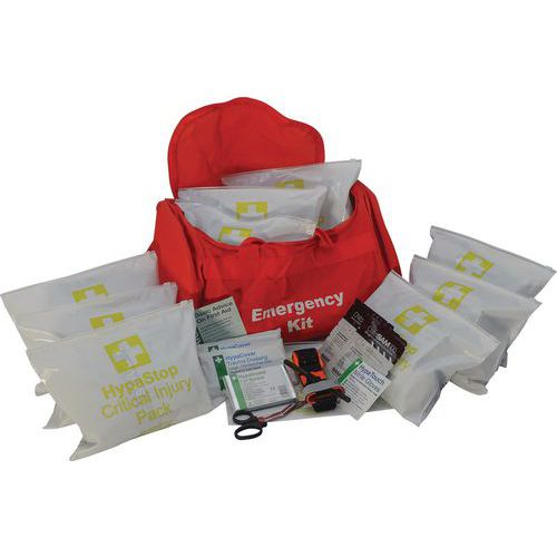 First Aid Mass Casualty Kits with 10 Critical Injury Packs
