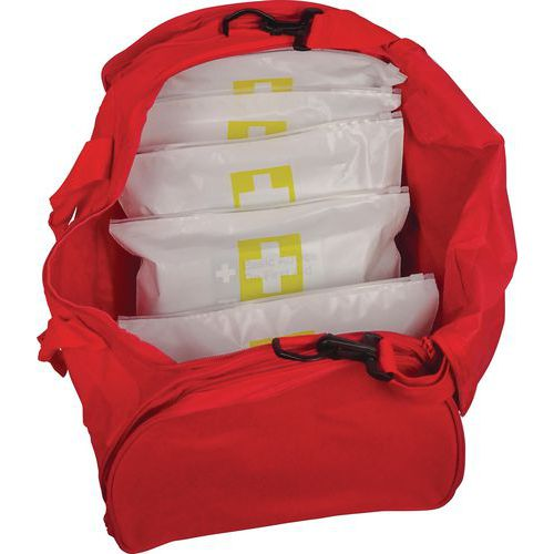 First Aid Mass Casualty Kits with 5 Critical Injury Packs