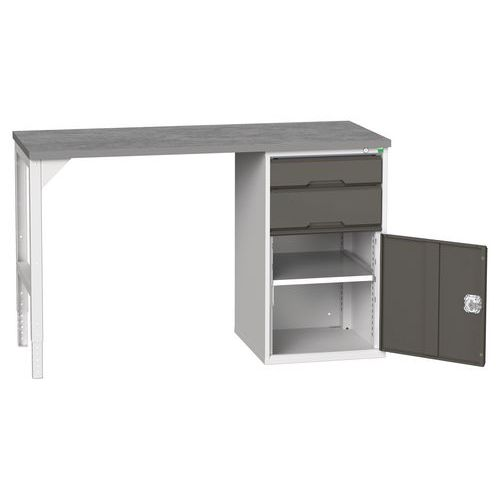 Bott Verso Industrial Workbench With 2 Drawers HxWxD 930x1500x600mm