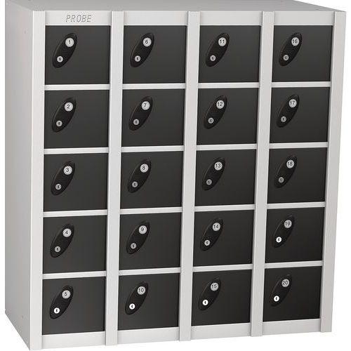 Probe 20 Door Metal Multibox Locker With 20 Doors HxWxD 940x900x380mm