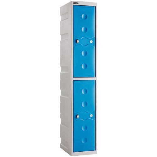 Plastic Weather Resistant Storage Probe Lockers HxWxD 1800x325x450mm