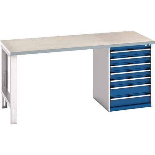 Bott Cubio Heavy Duty Steel Workbench With Lino Worktop HxWxD 940x2000x900mm