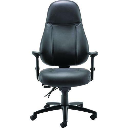 Heavy Duty Leather Executive Office Chair - Adur