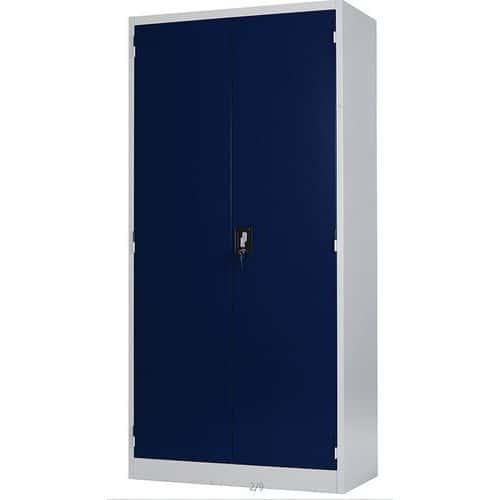 Tall cabinet with hinged doors - Light grey - Manutan Aris