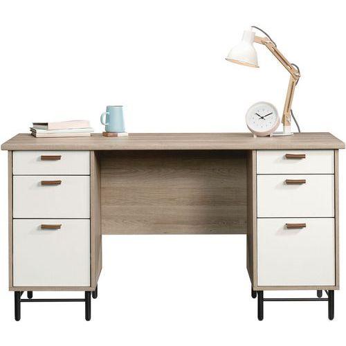 Avon Modern Executive Desk with Oak Finish