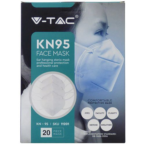 FFP2/KN95 Foldable Disposable Face Mask Pack of 20