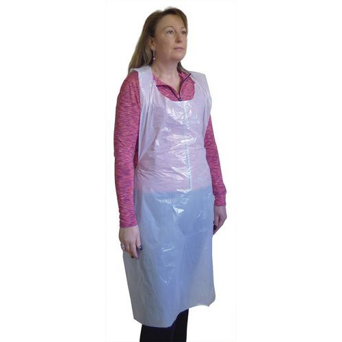 Disposable Polythene Aprons Pack of 600 White