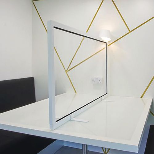 Free Standing Clear Protection Desk Screens