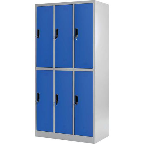 Multi-compartment locker - 3 columns - On base - Assembly required - Manutan