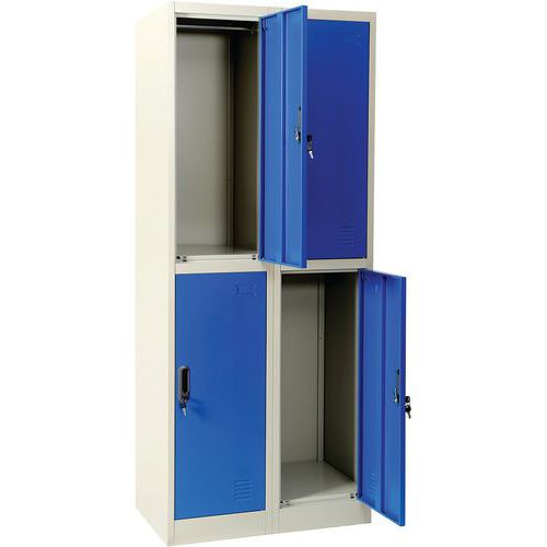 Blue multi-compartment locker - Manutan