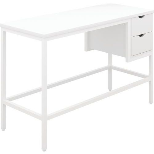 Modern Home Office Desk - Wood And With 2 Drawers