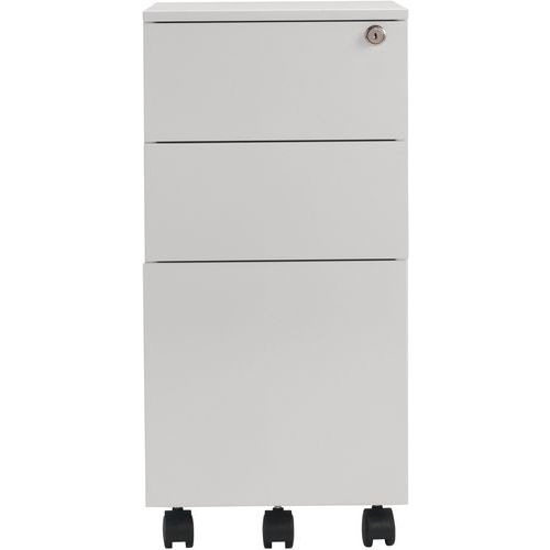 Home Office Mobile Filing Cabinet - Steel With 3 Drawers