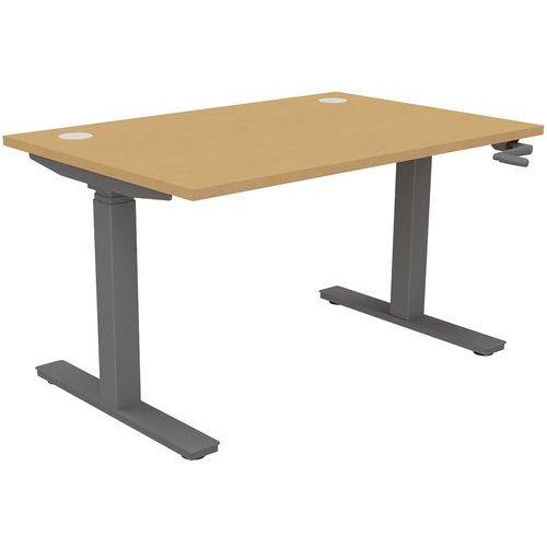 Height Adjustable Home/Office Desk - Hand Crank - ENVOL Classic