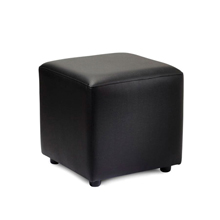 Black faux leather stool for your reception area