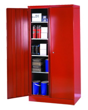Red large volume cupboard.