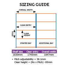 Rapid 1 sizing guide.