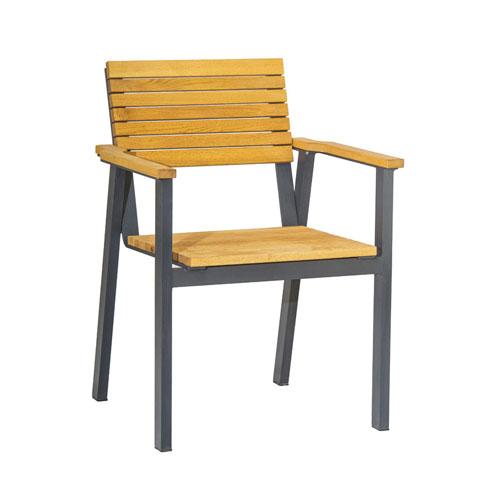 Bold Outdoor Wooden Bistro Chair