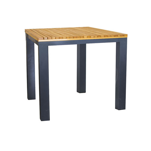 Bold Wooden Top Bistro Dining Table