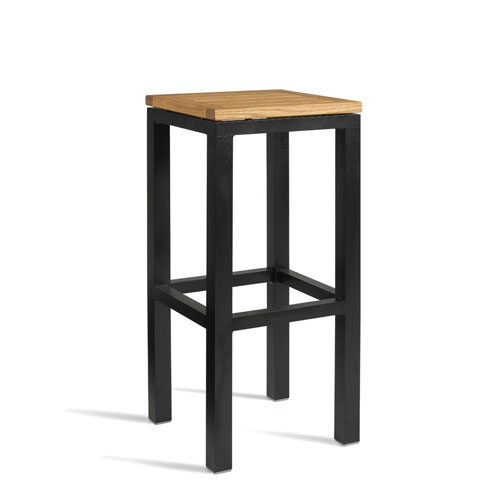 Ice Wooden Bar Stool