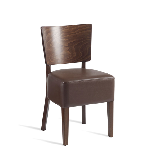 Wine Bistro Side Chairs Leather Effect