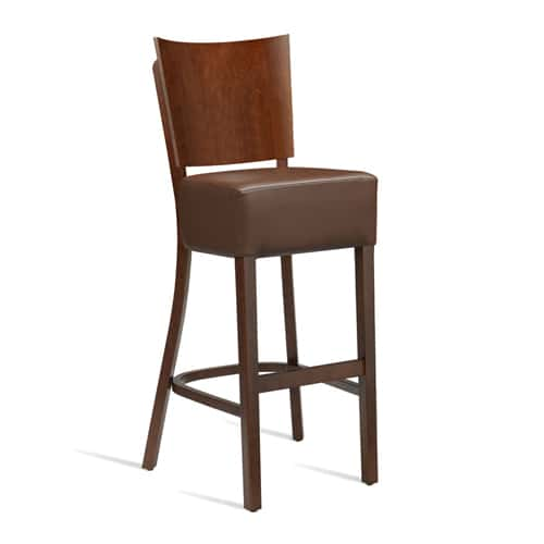 Wine Bistro Stools Leather Effect
