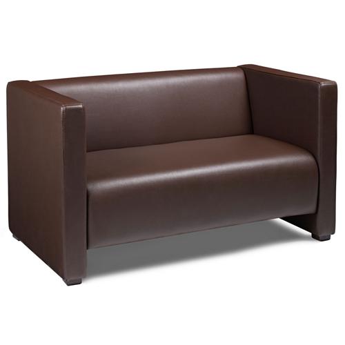 Faux Leather Reception Sofa