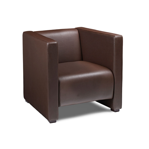 Faux Leather Reception Arm Chair