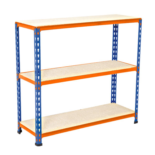 Medium Duty Shelving - Blue/Orange 990x915mm HxW mm