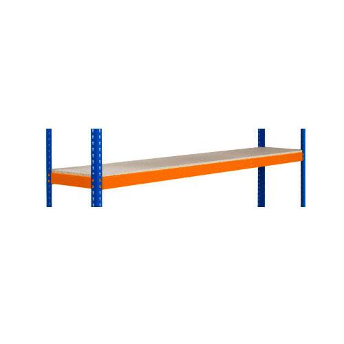 Shelves for Extra Heavy Duty Shelving - Orange 2440mm Width