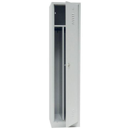 Clean & Dirty Locker with Plinth - Grey Body & Hasp Lock - 1800x415x500mm