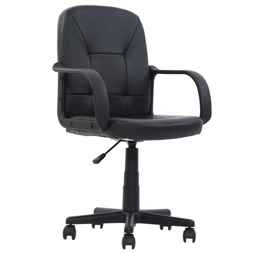 Derwent Black Leather Office Chair