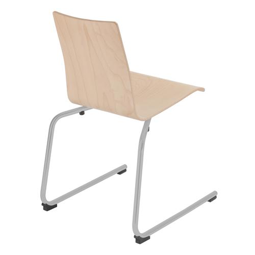 Wooden Cantilever Breakout Chair