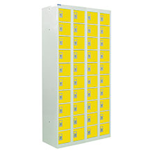 Yellow Compartment Lockers