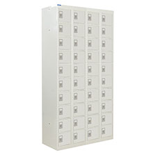 Grey Compartment Lockers