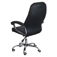 Office chair includes ergonomic back and headrest